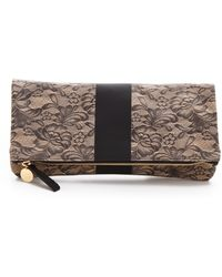 Clare Vivier Lace Fold Over Clutch - Lyst