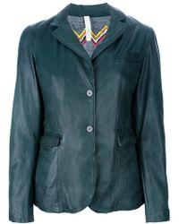 Le Sentier Leather Jacket - Lyst
