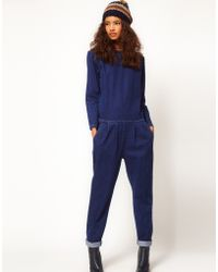 ASOS Collection Asos Premium Denim Boilersuit in Clean Indigo - Lyst