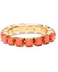 Cara Accessories Cara Accessories Rhinestone Stretch Ring orange - Lyst