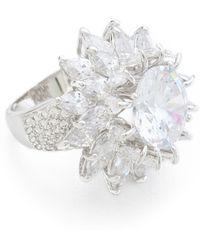 Kenneth Jay Lane Dimensional Flower Ring silver - Lyst