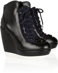 Kenzo Leather Wedge Sneakers - Lyst