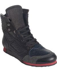 Lanvin High Top Sneaker Boot - Lyst