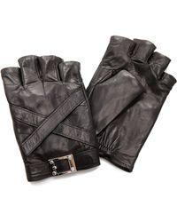 Rachel Zoe - Cross Strap Fingerless Gloves - Lyst