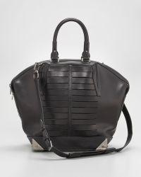 Alexander Wang Emile Satchel Bag  black - Lyst