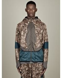 Nike  Fabric Mix Camo Jacket - Lyst
