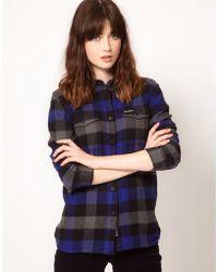 Penfield - Flannel Check Slim Fit Boyfriend Shirt - Lyst