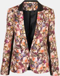Topshop Hydra Floral Print Blazer - Lyst