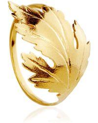 Alex Monroe - Chrysanthemum Leaf Ring - Lyst