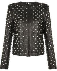Diane von Furstenberg Kate Studded Leather Jacket - Lyst