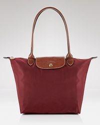 Longchamp Le Pliage Medium Shoulder Tote brown - Lyst