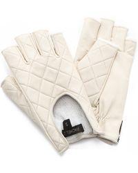 Rachel Zoe - Quilted Fingerless Driver Gloves - Lyst