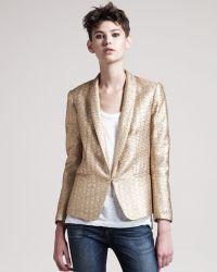 Rag & Bone | Sliver Metallic Tuxedo Jacket | Lyst