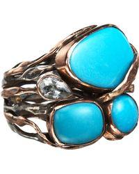 Sandra Dini - Turquoise Aquamarine Ring - Lyst