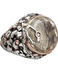 Sandra Dini - Rutilated Quartz Diamond Round Ring - Lyst