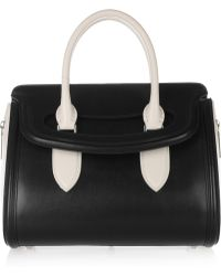 Alexander McQueen Heroine Small Leather Tote black - Lyst