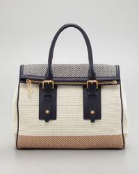 Belstaff - Dorchester 36 Woven Leather Satchel Bag Bonenavy - Lyst