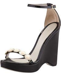 Jason Wu Embellished Wedge Sandals - Lyst