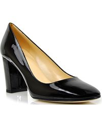 Kate Spade Shelly Black Patent Leather Pointed Toe Pump - Lyst