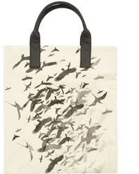 Simeon Farrar - Bird Print Canvas and Leather Tote - Lyst