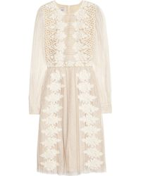 Valentino Embroidered Chantilly Lace Dress - Lyst