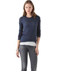 Enza Costa Cashmere Crew Sweater - Lyst