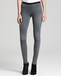 Helmut Lang Leather Leggings Patina Stretch - Lyst