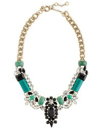 J.Crew Crystalencrusted Collar Necklace blue - Lyst
