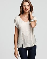 Joie Top Circa Georgette Embellished white - Lyst