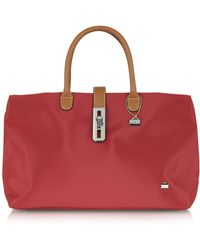 La Bagagerie - Large Nylon and Leather Tote - Lyst