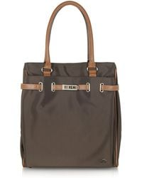 La Bagagerie - Northsouth Nylon and Leather Tote Bag - Lyst