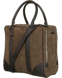 TOPSHOP | Double Zip Suedette Bag | Lyst