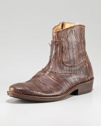 True Religion - Laser Etched Ankle Boot - Lyst