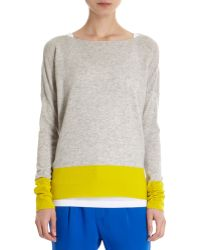Vince Colorblock Boatneck Sweater - Lyst