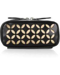 Alaïa - Lasercut Leather Cosmetic Case - Lyst