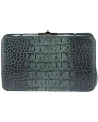 Emporio Armani Crocodile Style Clutch - Lyst