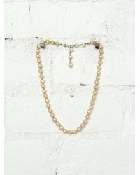 Free People Vintage Costume Pearl Necklace - Lyst