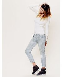 Free People 5 Pocket Slim Slouch Jeans - Lyst