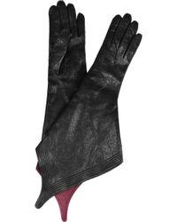 Haider Ackermann - Pointed Leather Gloves - Lyst