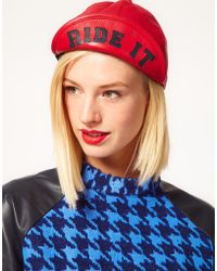House of Holland - Leather Ride It Hat - Lyst