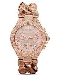 Michael Kors Camille Watch 44mm gold - Lyst