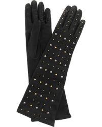 Miu Miu | Studded Leather Gloves | Lyst