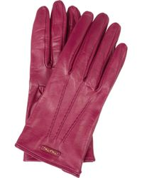 Miu Miu - Leather Gloves - Lyst