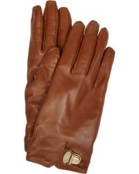 Mulberry   Polly Push Lock Leather Gloves   Lyst