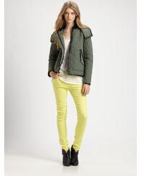 Rag & Bone Wynn Quilted Jacket green - Lyst