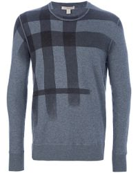 Burberry Brit Check Design Sweater - Lyst