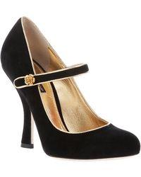 Dolce & Gabbana High Heel Court Pumps black - Lyst