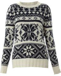 Linea Weekend Ladies Knitted Snowflake Jumper beige - Lyst