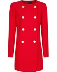 Mango Mango Double Breasted Coat Red red - Lyst