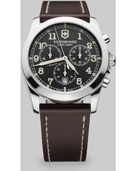 Victorinox Infantry Chronograph Watch brown - Lyst
